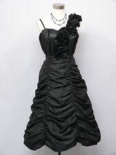 Cherlone Black Prom Ball Evening Bridesmaid Wedding Formal Gown Dress Size 12-14