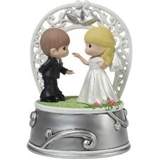 * Precious Moments Musical Figurine Wedding March First Dance Couple Music Box