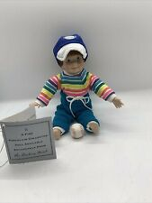 Danbury Mint Boy Doll Baseball player w/ baseball Christopher by Elke Hutchens