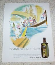 1971 print ad - Passport Scotch Whisky JAFFEE art gondola vintage Advertising