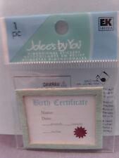 NEW JOLEE'S DIMENSIONAL EMBELLISHMENTS BOY BIRTH CERTIFICATE   JJGA017A 1837