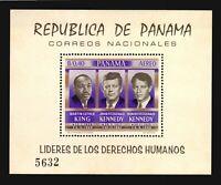 Panama MNH  #C363a s/s Human rights year Martin Luther King & JFK Kennedy cv$30