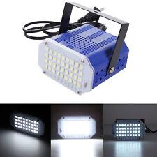 Mini Adjustable LED Strobe Light Sound Activated Club Disco Party Flash RGB Blue