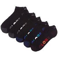 Globe Socks 5 Pack Multi Stripe Ankle Black Size 7-11 Skateboard Sox