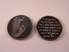 Footprints ~ Pewter Pocket Token ~ Pack of Two