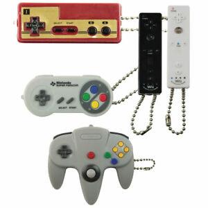 5 Tomy Nintendo Controller Keychain Backpack Super Nintendo 64 Wii NES Famicom