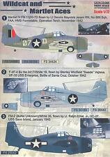 Print Scale Decals 1/72 GRUMMAN F4F WILDCAT AND MARTLET ACES