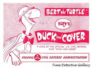 Vintage 1952 'Duck & Cover' Nuclear Civil Defense Poster - Available in 4 Sizes