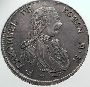 1790 John Emmanuel de Rohan ORDER of MALTA Grand Master Silver Coin NGC i82508