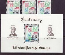 Liberia # 393-94 C128-29 MNH Stamp on Stamp Liberian Stamp Centennial