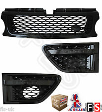 RANGE ROVER SPORT AUTOBIOGRAPHY 2010-13 SIDE VENTS FRONT GRILLE SET-GLOSS BLACK