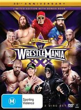 WWE - Wrestle Mania XXX (DVD, 2014, 3-Disc Set) - Region 4