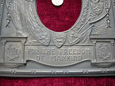 Replica WW1 'For the Freedom of Mankind'  photograph / Memorial Plaque Bronzed