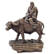 "LAOZI STATUE 10"" Taoist Philosopher Chinese Deity HIGH QUALITY Bronze Resin NEW"