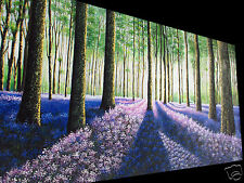 art painting abstract landscape  forest tree flower by jane Australia