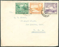 CYPRUS TO USA Cover 1947 VF