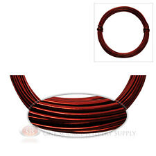 Ox Blood Red Aluminum Craft Wire Wrapping 12 Ga. Sculpture 39 Ft. Floral Jewelry