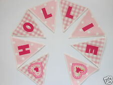 CATH KIDSTON & LAURA ASHLEY FABRIC SPOT PERSONALISED BUNTING £2.50/lettered flag