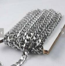 bulk 2 meter stainless steel Jewelry findings chain Huge 8mm Curb chain Marking