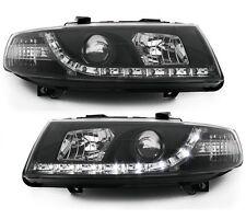 Scheinwerfer schwarz Seat Leon 1M 99-05 mit TAGFAHRLICHT-OPTIK links rechts SET