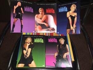 La Femme Nikita Complete Series 1-5 Seasons 1 2 3 4 5 DVD Boxsets + Peta Book!