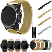 Milanese Magnetic Loop Mesh Stainless Steel Watch Strap For Garmin Fenix 3/HR