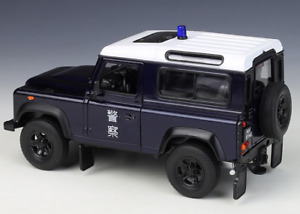 Brand new Welly 1:24 Land Rover Defender Hong Kong police die-cast model SUV car