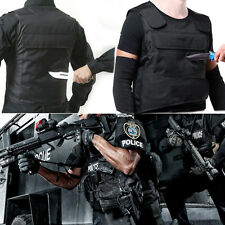 Blk Anti Stab Vest Stabproof Anti-knifed Security Defense Body Armour Men Vest