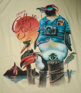 JIMMY BUFFETT T-Shirt CARIBBEAN SOUL Vintage 90s Single Stitch Penguin NEW Sm