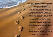FOOTPRINTS IN THE SAND INSPIRATIONAL A5..A4..A3..A2.A1.. OPTIONS