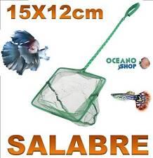 SALABRE 15x12CM ACUARIO de malla RED Verde pecera peces mango tortuguera pez