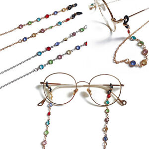 Reading Glasses Chain for Sunglasses Cords Bead Eyeglass Lanyard Straps Eyewear