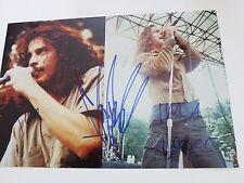Chris Cornell & Eddie Vedder signed photo coa + Proof! Pearl Jam Soundgarden 1/1