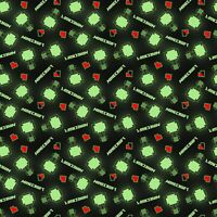 Minecraft 67252 Level Up 100% Cotton fabric by the yard