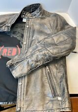 Gap Leather Moto Jacket, Product (RED), Medium Distressed Black, Limited, EUC