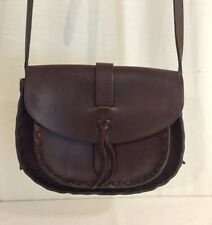 Madewell Crossbody Women Brown Stitched Leather Bag Handbag