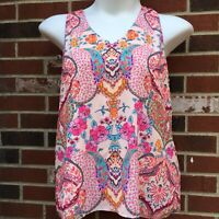 tabitha webb womans large lined tank top Pink Multicolored