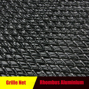Front Intake Grille Aluminium Rhombus Mesh Car Tuning Grill 12mm* 6mm Black
