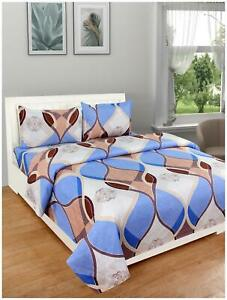 DREAM LIVING Polyester Double Size Bedsheet 110 TC(1 Bedsheet+2-O8W
