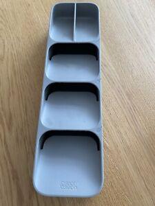 Joseph Joseph Plastic Cutlery Organiser- Grey