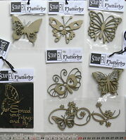 CHIPBOARD Die Cuts BUTTERFLY Flutterfly x 7 Styles Scrap FX- Multi Choice F