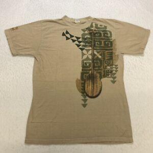 Crazy Shirts Hawaii T-Shirt Size M Beige Retro Graphic Cotton Short Sleeve Mens