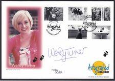 Wendy Turner British Journalist TV Presenter Signed Autograph 2001 Stamp Cover
