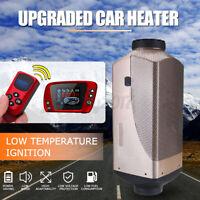 🔥 HCalory 8KW 12V Air LCD Diesel Luftheizung Standheizung Heizung Schalldämpfer