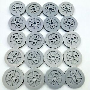 """20 Knex Gray Pulleys Small 1-1/2"""" Hubs for Tires K'nex Parts Lot"""