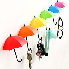 3 x Stylish Umbrella Wall Hook Adhesive Small Hanger For Kitchen Bathroom In Box
