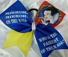 Cheer Bow -  Snow White  - Glitter - Hair Bows