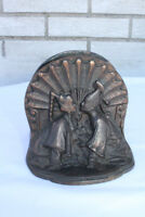 Antique Pair of Oriental Cast Iron Bookends Book Ends