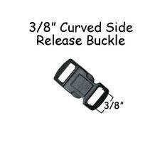 """20 - 3/8"""" Side Release Contour Buckles - Black Plastic - for Paracord Bracelets"""