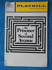 The Prisoner Of Second Avenue - Eugene O'Neill Theatre Playbill - January 1972